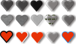 Free Stock Photo: Illustration of small hearts