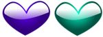 Free Stock Photo: Illustration of blue and green hearts