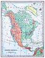 Free Stock Photo: Vintage map of North America