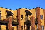 Free Stock Photo: Balconies on an apartment building