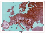 Free Stock Photo: A vintage relief map of Europe