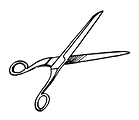 Free Stock Photo: Illustration of a pair of scissors