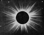 Free Stock Photo: Vintage photo of a lunar eclipse