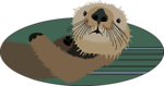 Free Stock Photo: Illustration of a sea otter