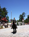 Free Stock Photo: A knight on a horse at the 2011 Georgia Renaissance Festival