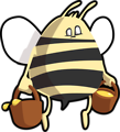 Free Stock Photo: Illustration of a cartoon bee carrying honey