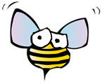 Free Stock Photo: Illustration of a cartoon bee