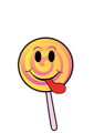 Free Stock Photo: Illustration of a lollipop with a smiley