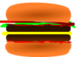 Free Stock Photo: Illustration of a hamburger