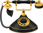 Free Stock Photo: Illustration of a an antique telephone
