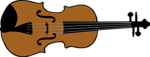 Free Stock Photo: Illustration of a violin