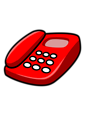Free Stock Photo: Illustration of a red telephone