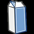 Free Stock Photo: Illustration of a carton of milk