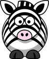 Free Stock Photo: Illustration of a cartoon zebra