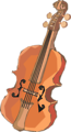 Free Stock Photo: Illustration of a violin