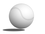 Free Stock Photo: Illustration of a baseball