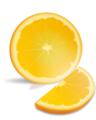 Free Stock Photo: Illustration of an orange slice