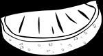 Free Stock Photo: Illustration of an orange slice