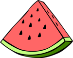 Free Stock Photo: Illustration of a watermelon slice