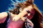 Free Stock Photo: Miley Cyrus singing on stage