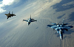 Free Stock Photo: Jet fighters flying in the sky
