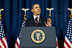 Free Stock Photo: President Barack Obama delivering an address