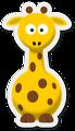 Free Stock Photo: Cartoon illustration of a giraffe