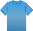 Free Stock Photo: Illustration of a blank blue t-shirt