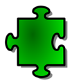 Free Stock Photo: Illustration of a green puzzle piece