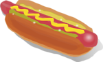 Free Stock Photo: Illustration of a hotdog with mustard