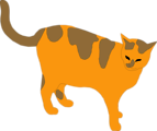 Free Stock Photo: Illustration of an orange cat