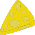 Free Stock Photo: Illustration of a slice of cheese