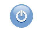 Free Stock Photo: Illustration of a blue power button icon