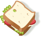 Free Stock Photo: Illustration of a sandwich