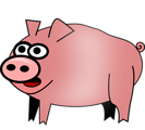 Free Stock Photo: Illustration of cartoon pig