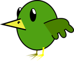 Free Stock Photo: Illustration of a green cartoon bird