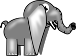 Free Stock Photo: Illustration of a cartoon elephant