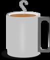 Free Stock Photo: Illustration of a mug of hot coffee