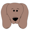 Free Stock Photo: Illustration of a puppy's face