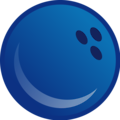 Free Stock Photo: Illustration of a blue bowling ball