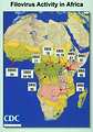 Free Stock Photo: Illustrated map of Filovirus Activity in Africa