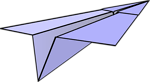 Free Stock Photo: Illustration of a paper airplane