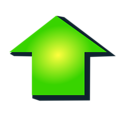Free Stock Photo: Illustration of a green arrow pointing up