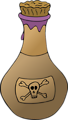Free Stock Photo: Illustration of a bottle of poison
