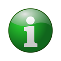 Free Stock Photo: Illustration of a green information button