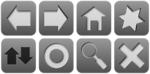 Free Stock Photo: A set of grey icons