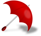 Free Stock Photo: Illustration of a red umbrella