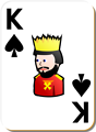 Free Stock Photo: Illustration of a King of Spades playing card
