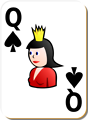 Free Stock Photo: Illustration of a Queen of Spades playing card