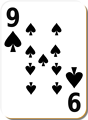 Free Stock Photo: Illustration of a Nine of Spades playing card